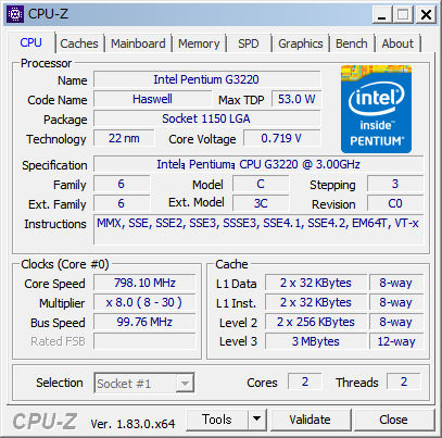 CPU-Z 日本語化パッチ適用前