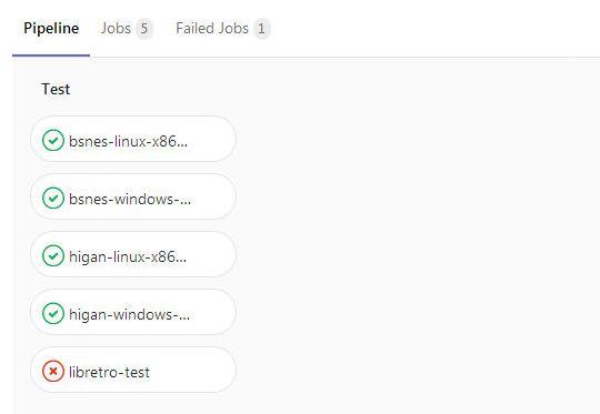 GitLab ジョブのStatusが全てfailedになっている理由