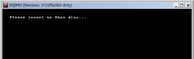 XQEMU Xboxのディスクを入れろと言われる