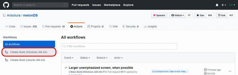 GitHub Windows版のみ表示するようにフィルタを適用