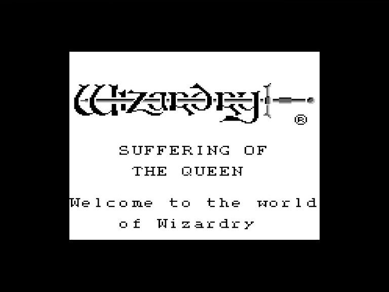 Mesen-S ゲームボーイ対応 ウィザードリィ外伝 タイトル画面