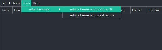 Switchエミュ Ryujinxの導入と設定 ファームウェアのインストール