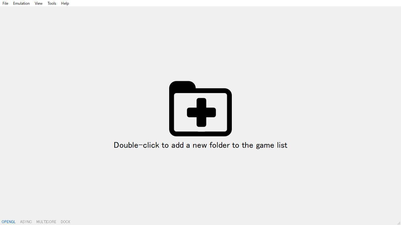 Switchエミュ yuzuの導入と設定 初回起動時の画面