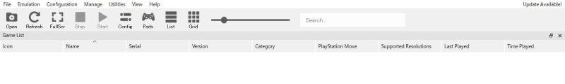 PS3エミュ RPCS3の導入と設定 自動更新チェック Background