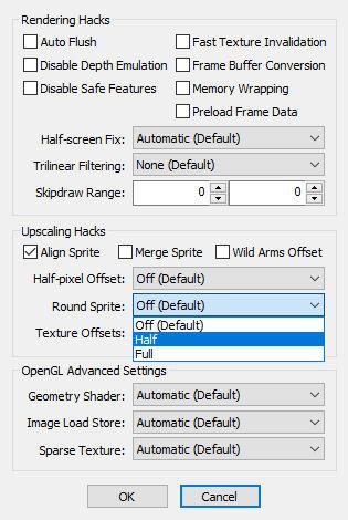 PCSX2 内部解像度を上げると画面に縦線が入る件 Round Sprite
