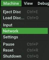 ユーザーネットワークの有効化 ネットワーク設定