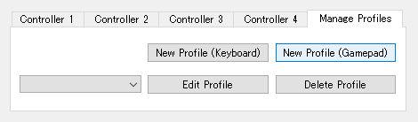 m64p コントローラーの設定 プロファイルの新規作成